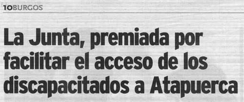 Atapuerca Paleorama sordos LSE accesibilidad arqueología premio injusto