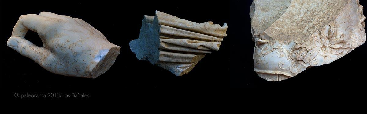 Fotogrametria estatua romana yacimiento arqueologico Los Bañales